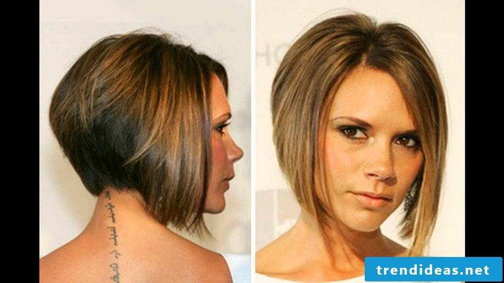 Short bob with longer side part