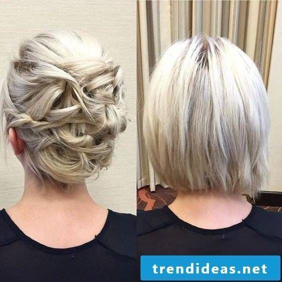 Party hairstyle for thin hair