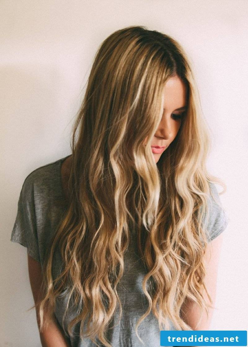 Haircut long hair