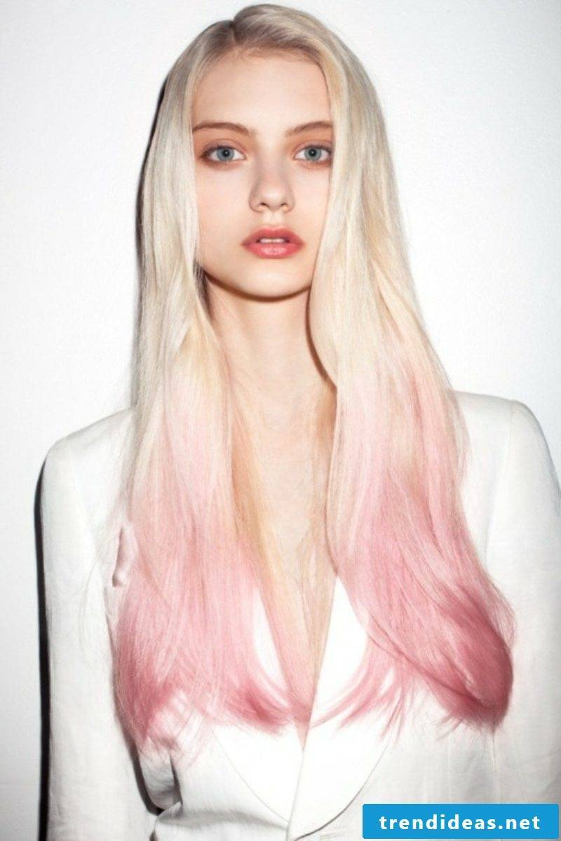 Hair colors trends pastel pink ombre hair