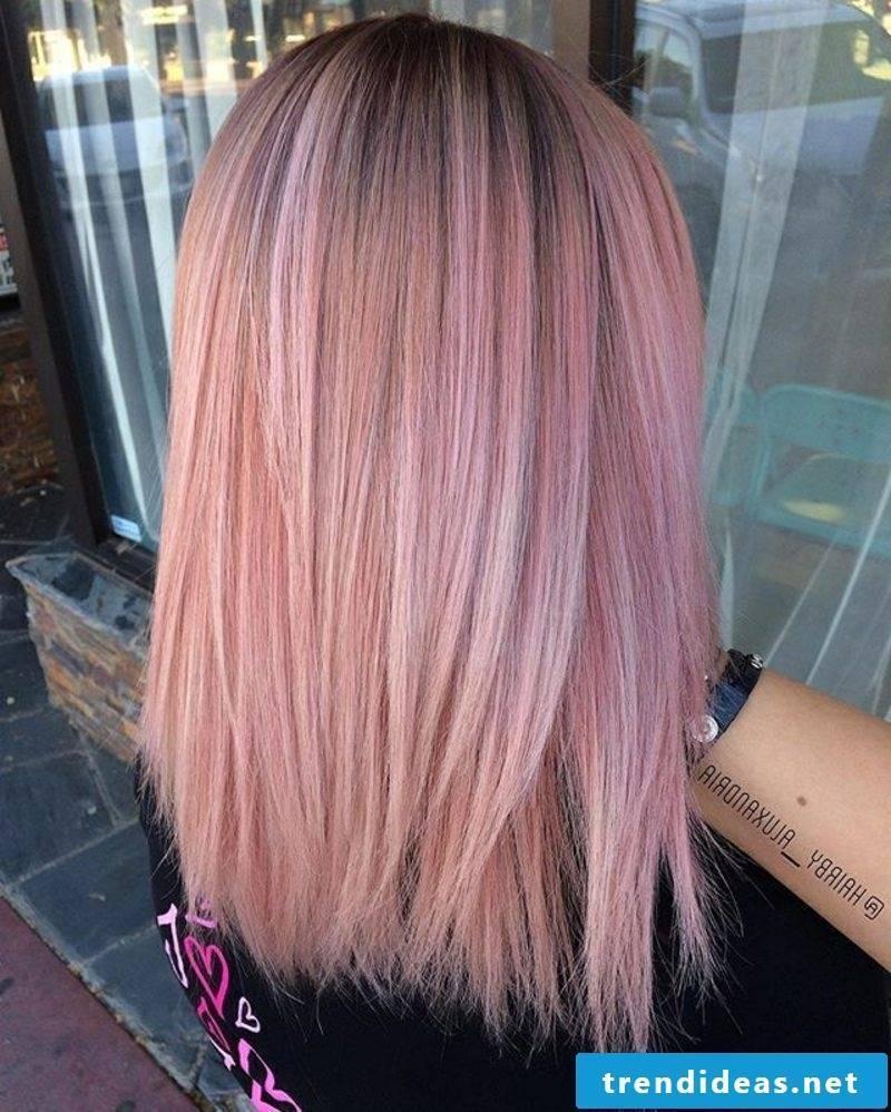 Hair colors trends 2017 pastel pink hair