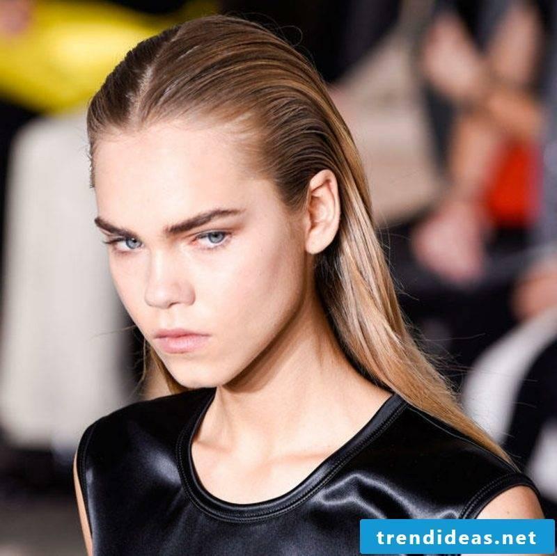 Hairstyles long hair modern wet look