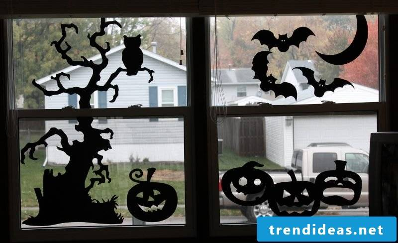 With craft templates you can decorate the windows