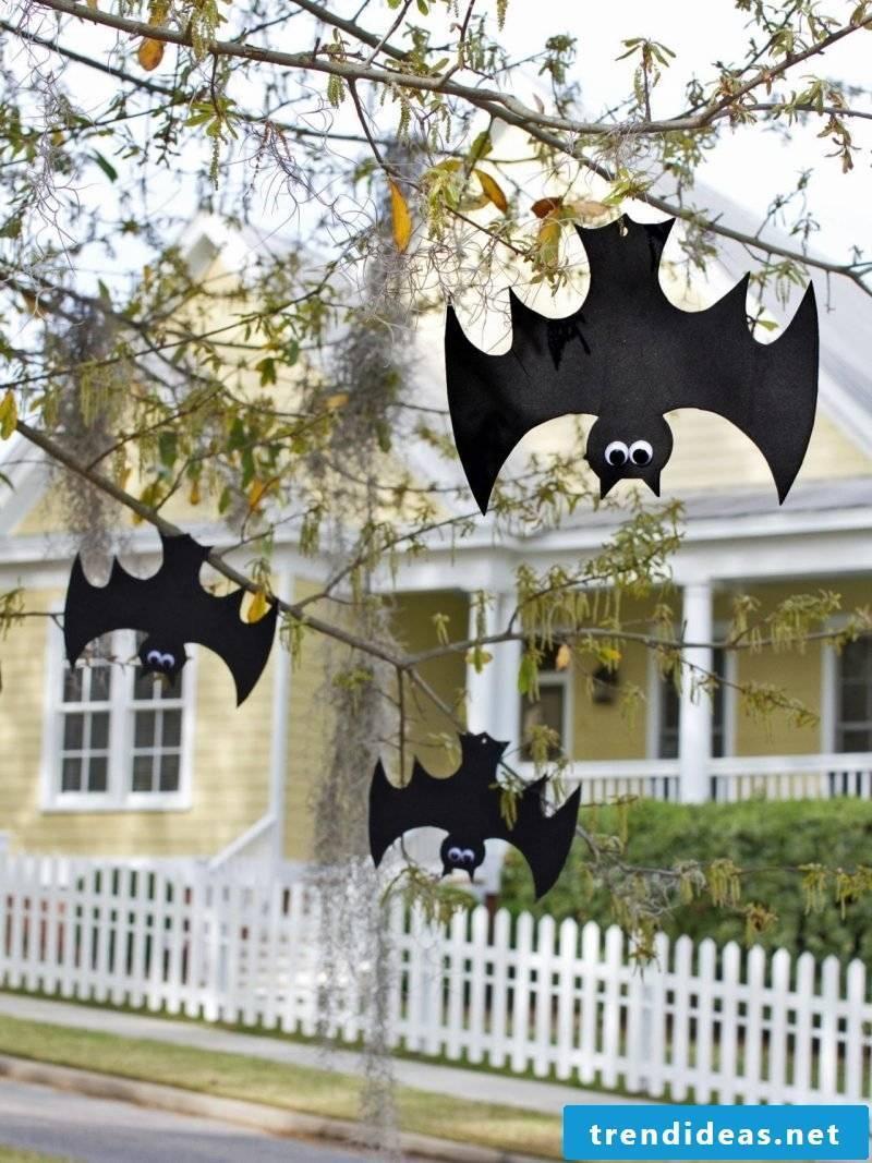 With craft templates you make bats