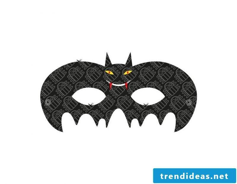 Cut the craft templates for Halloween mask