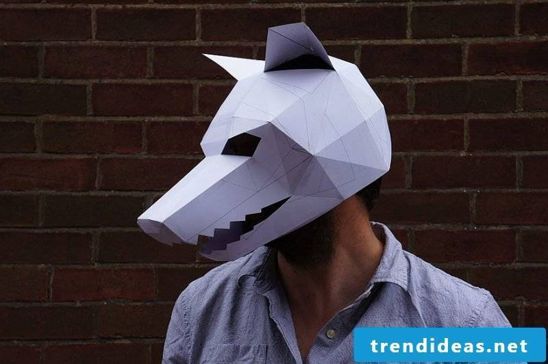 Crafting templates for Halloween mask for folding