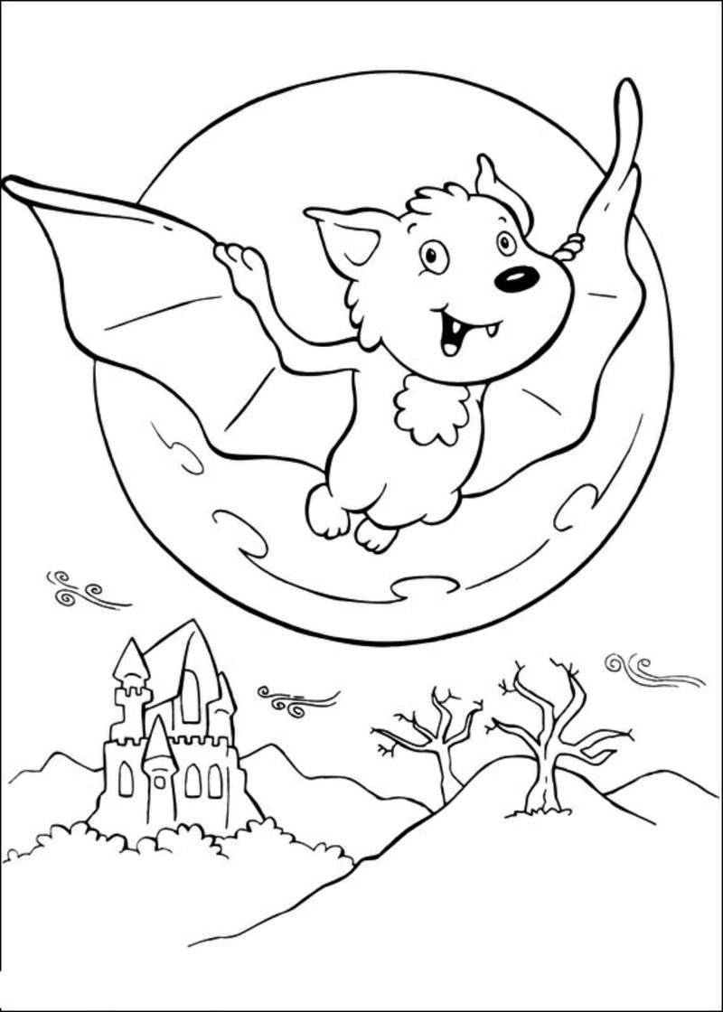 Halloween coloring pages bat