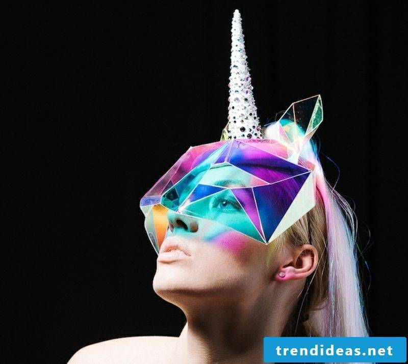 Halloween and carnival costumes themselves make unicorn