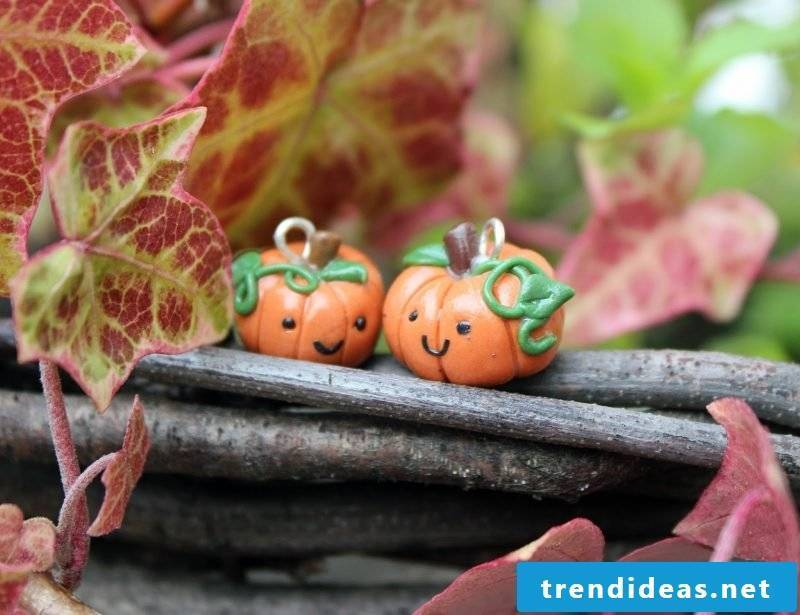 Fimo ideas for Halloween: Instructions for a pumpkin