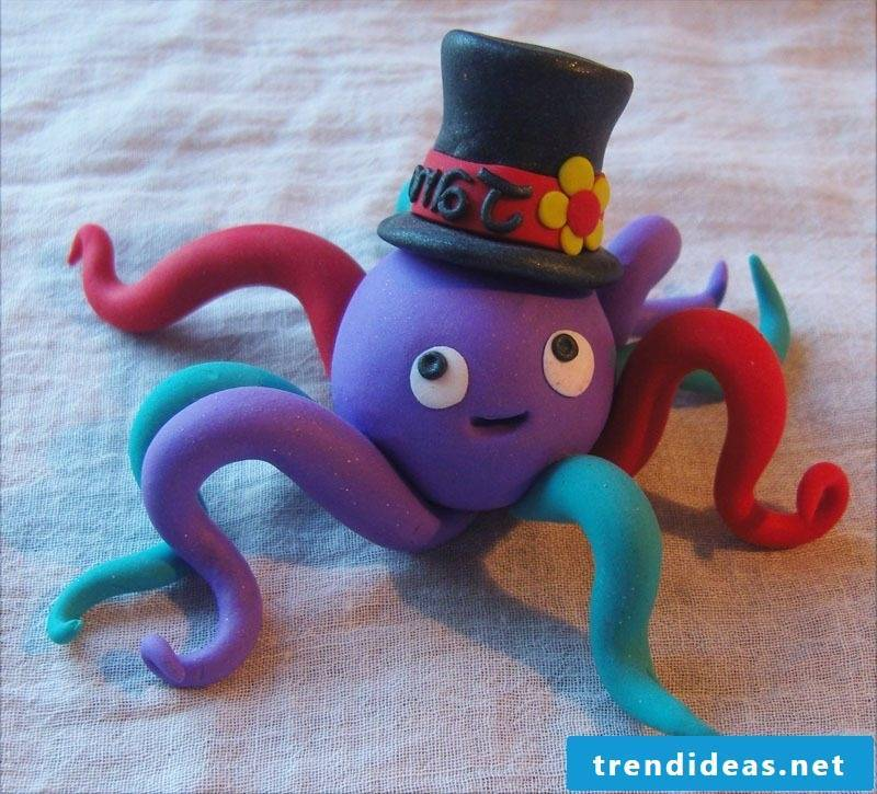 Fimo Ideas for Halloween: making octopods