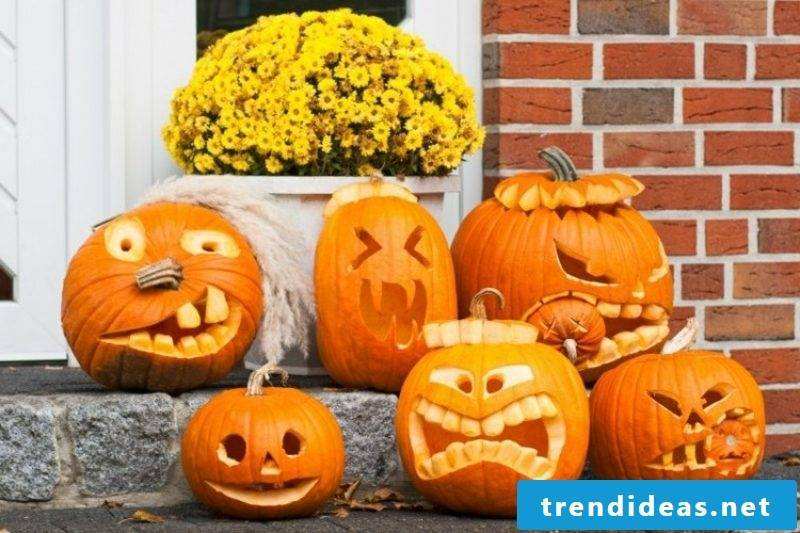 original halloween pumpkin scary faces