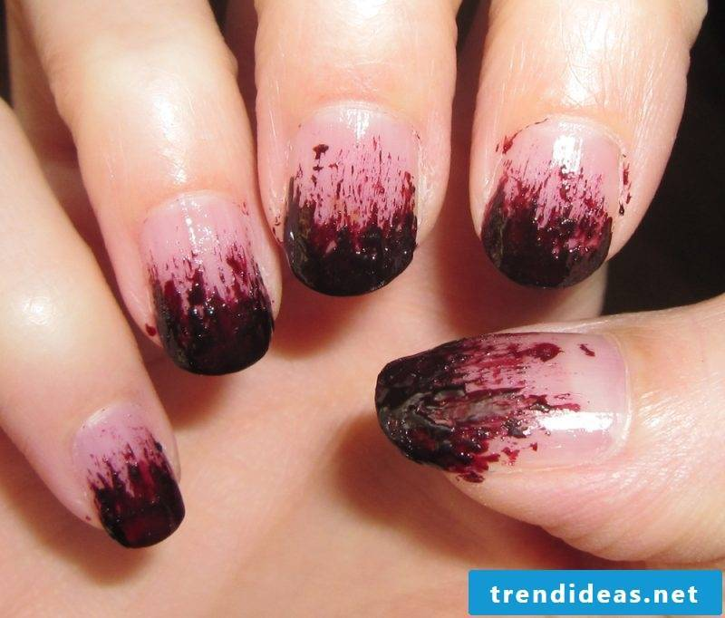 Red nail design for halloween bloody nails