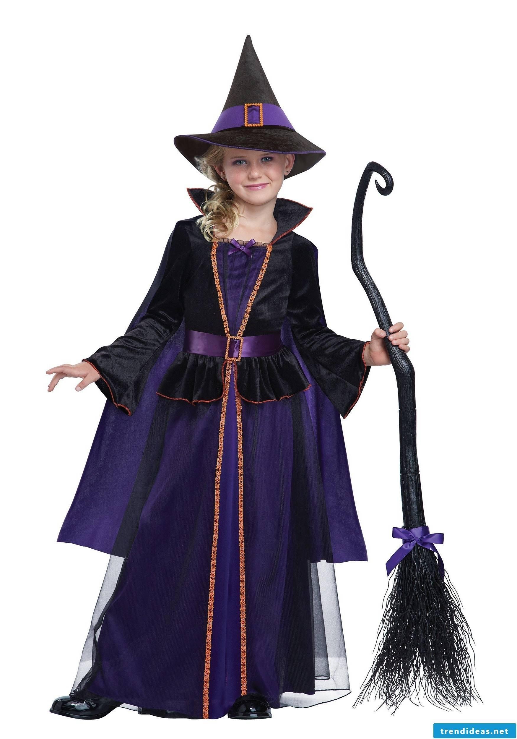 Witch costume for children - a true classic