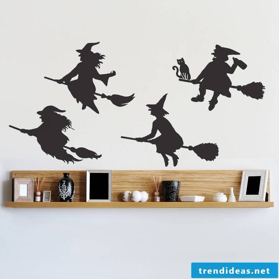 Wall stickers as Halloween decoration