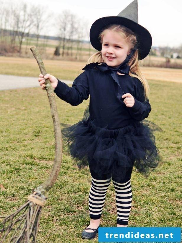 And the costume of the little witch is ready