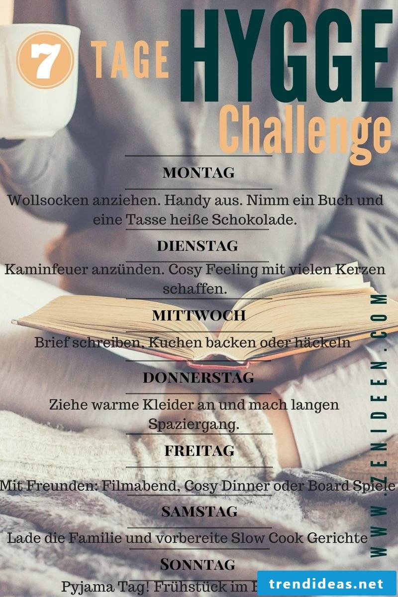 7 days Hygge Challenge to bring happiness in life