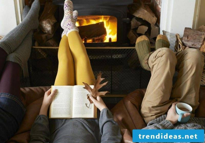 Hygge - Read a good book in wool socks by the fireplace