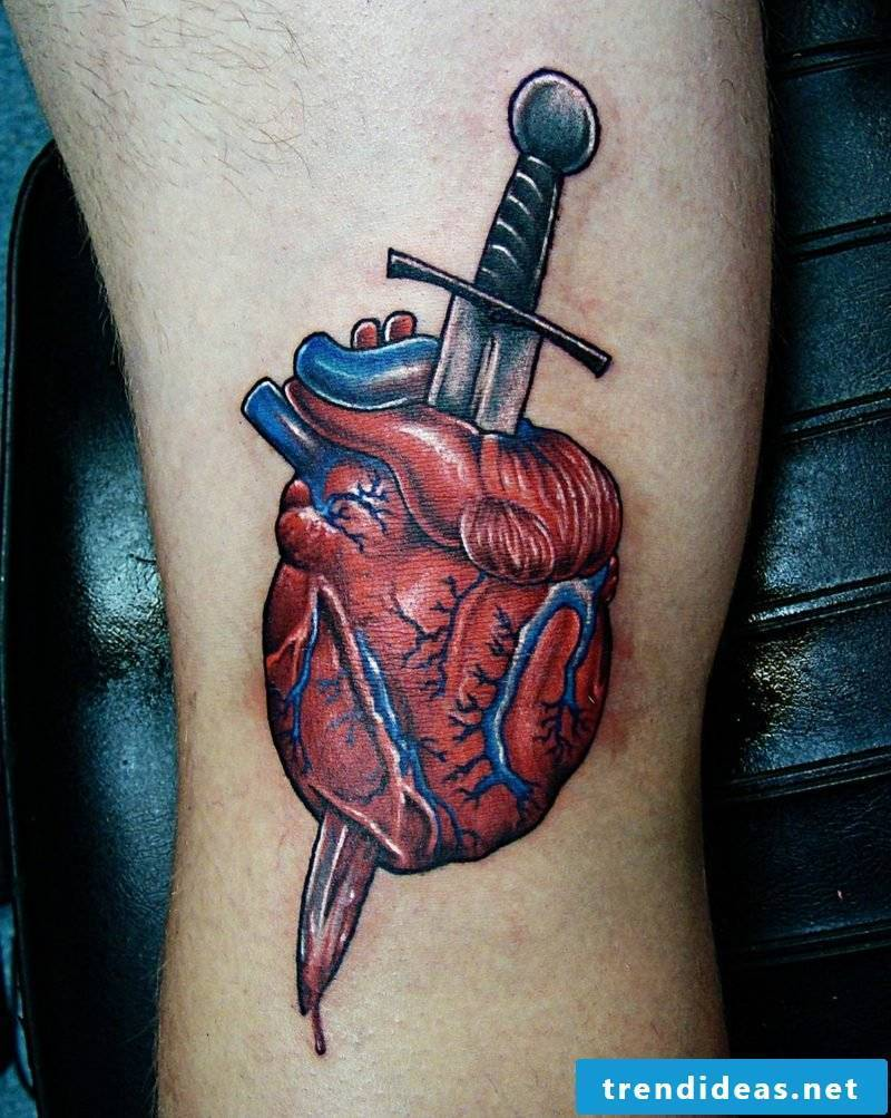 Heart Tattoo Dagger