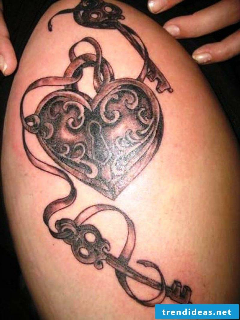 Heart tattoo women side heart tattoos