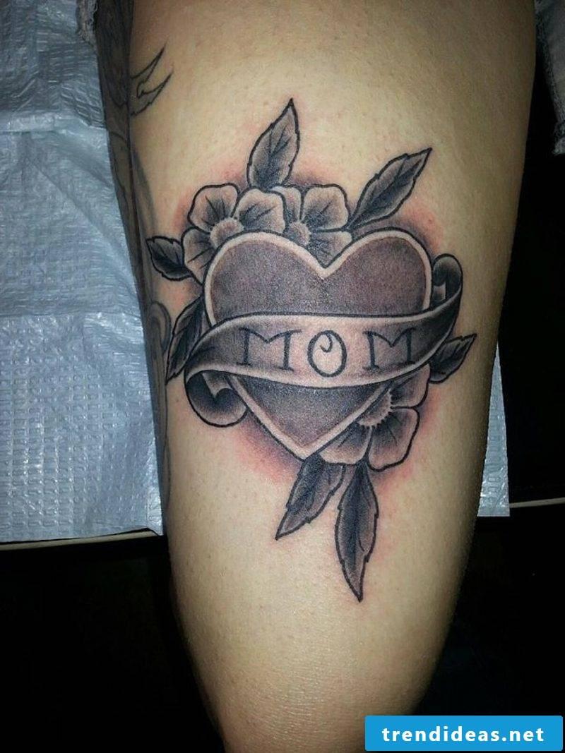 Heart Tattoo Black