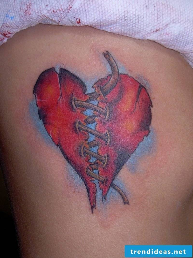 Heart Tattoo Red Broken Heart