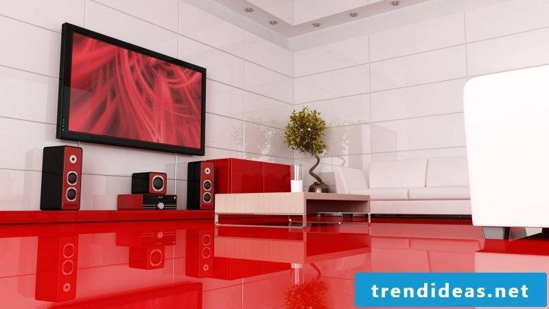 Media furniture in red: inspiration for the design of your apartment!