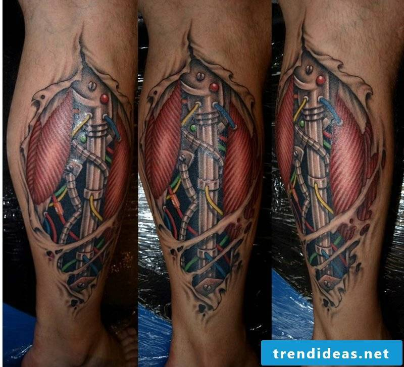 calf tattoo biomechanics