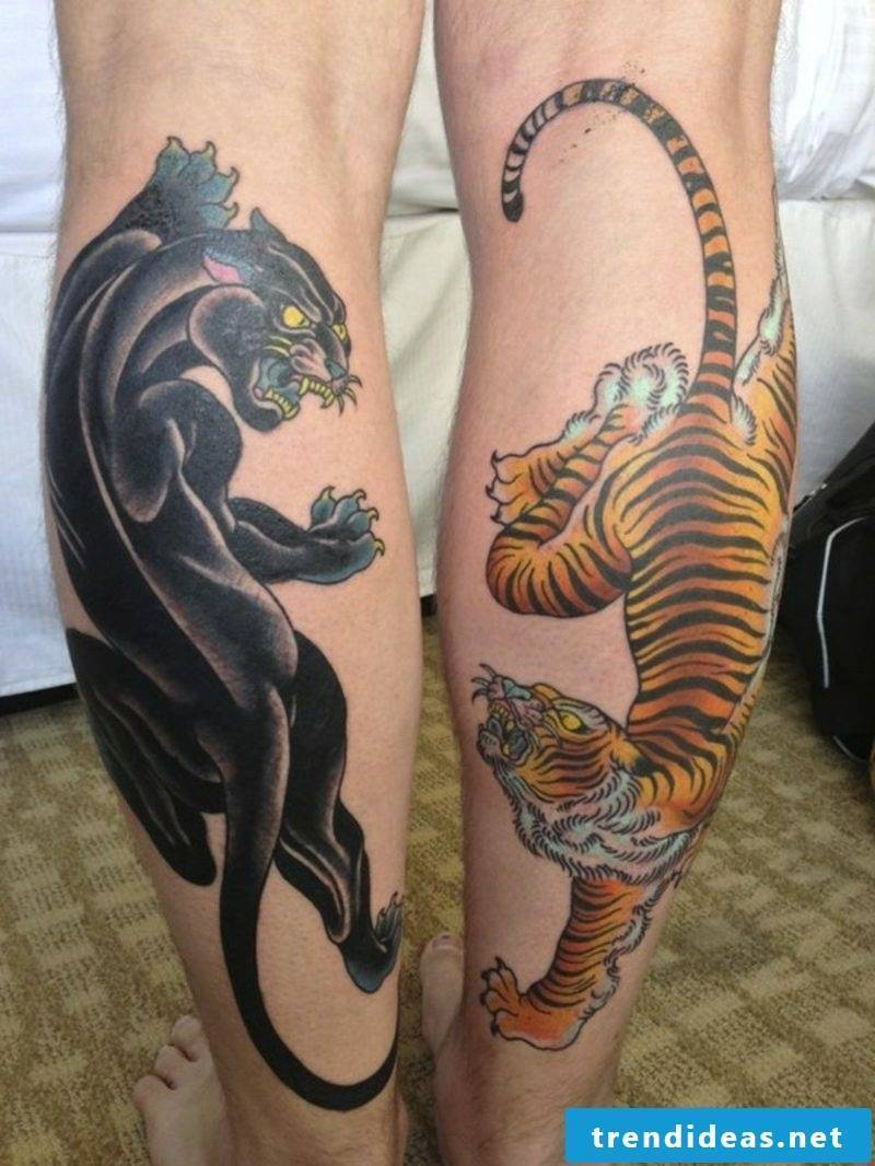 Calf tattoo animal