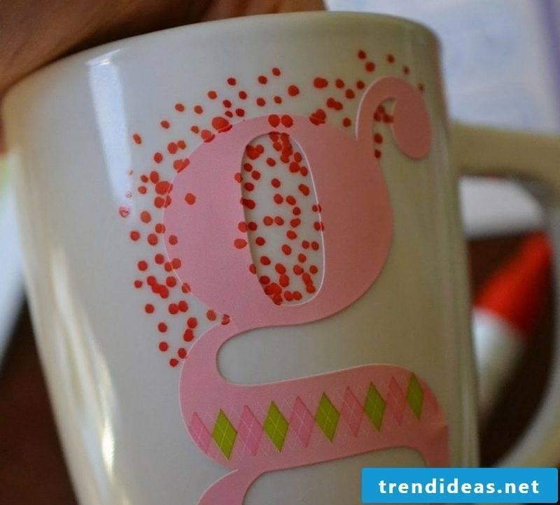 homemade gifts Mugs painted Christmas
