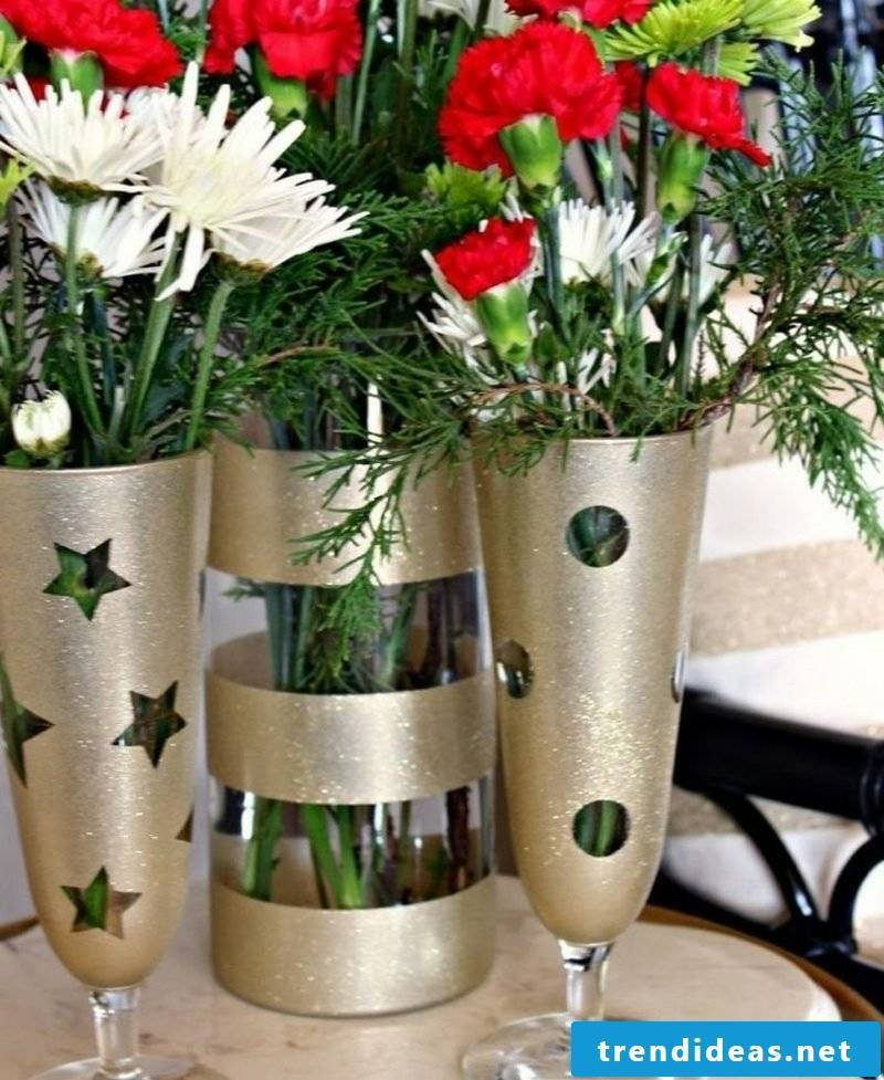 homemade gifts decorating Christmas glass vases