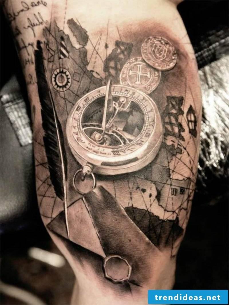 Hourglass Tattoo Pocket Watch Tattoo
