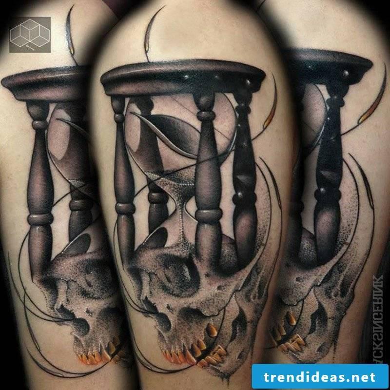 Hourglass Tattoo skull