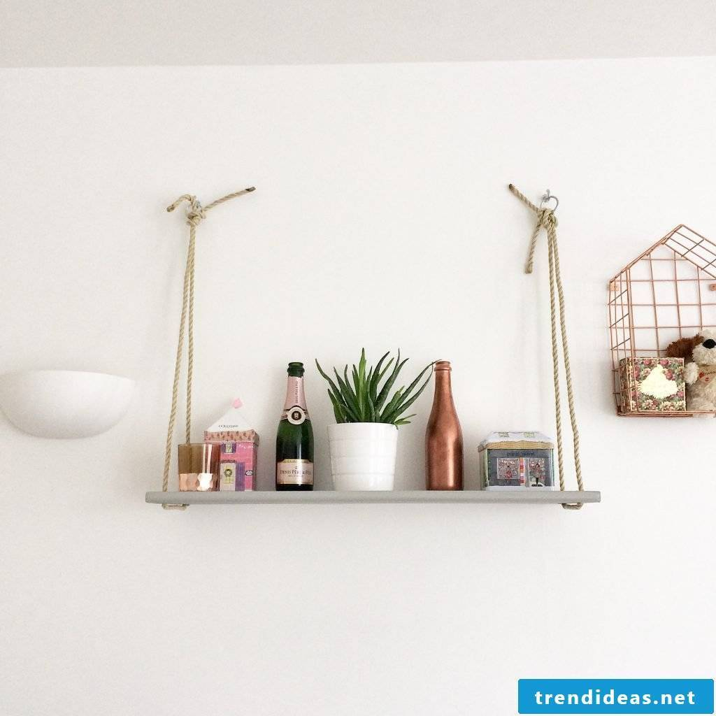Etagere made of natural materials