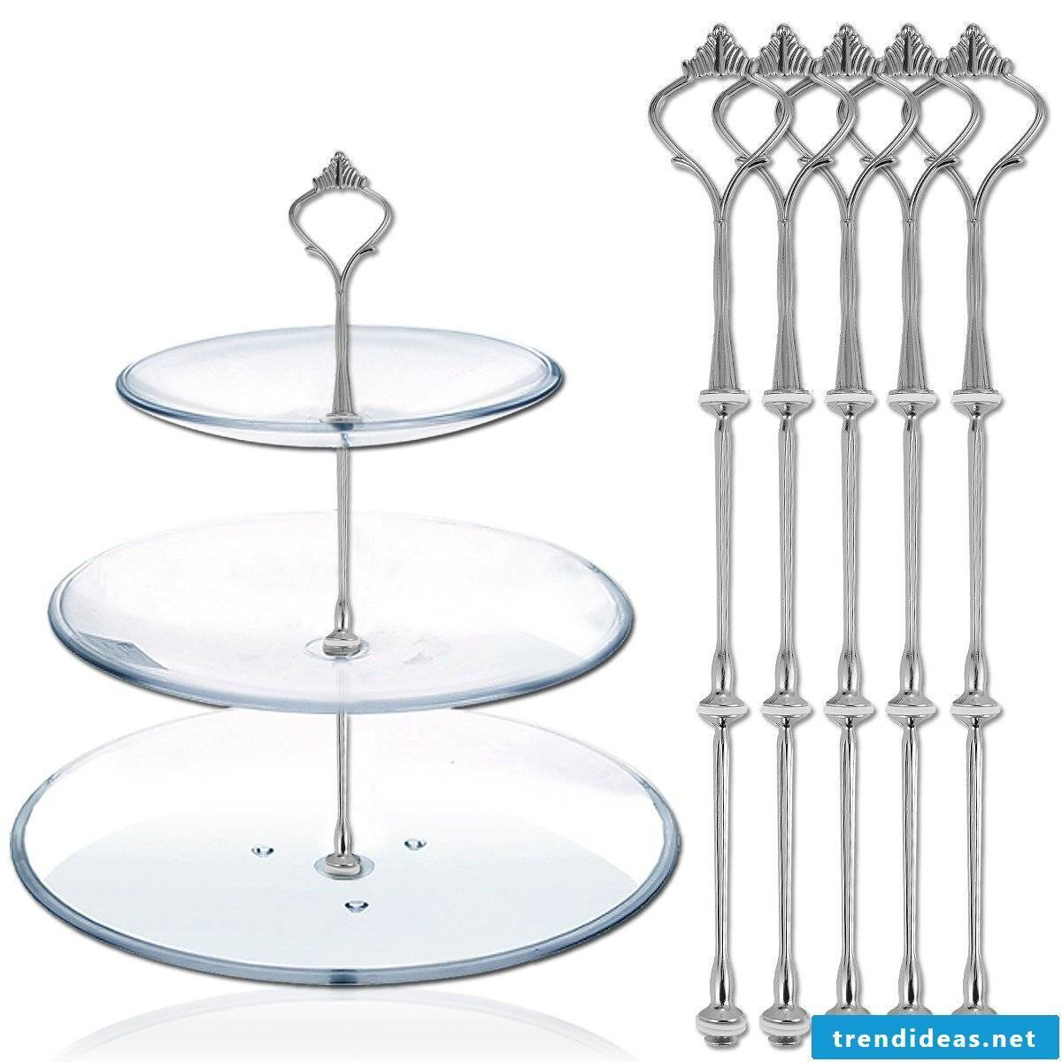 Etagere made of glass
