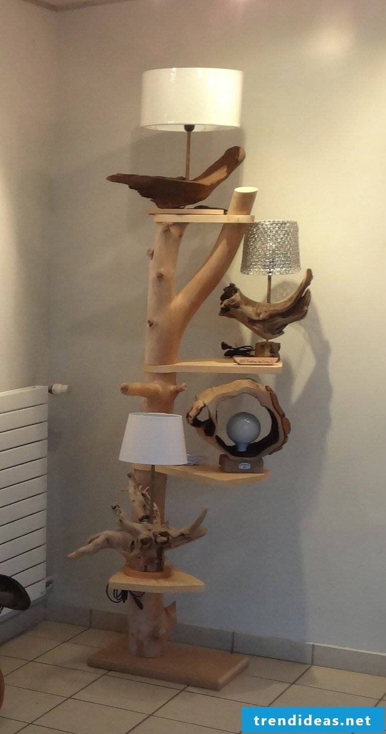 Wooden etagere - very chic and unusual