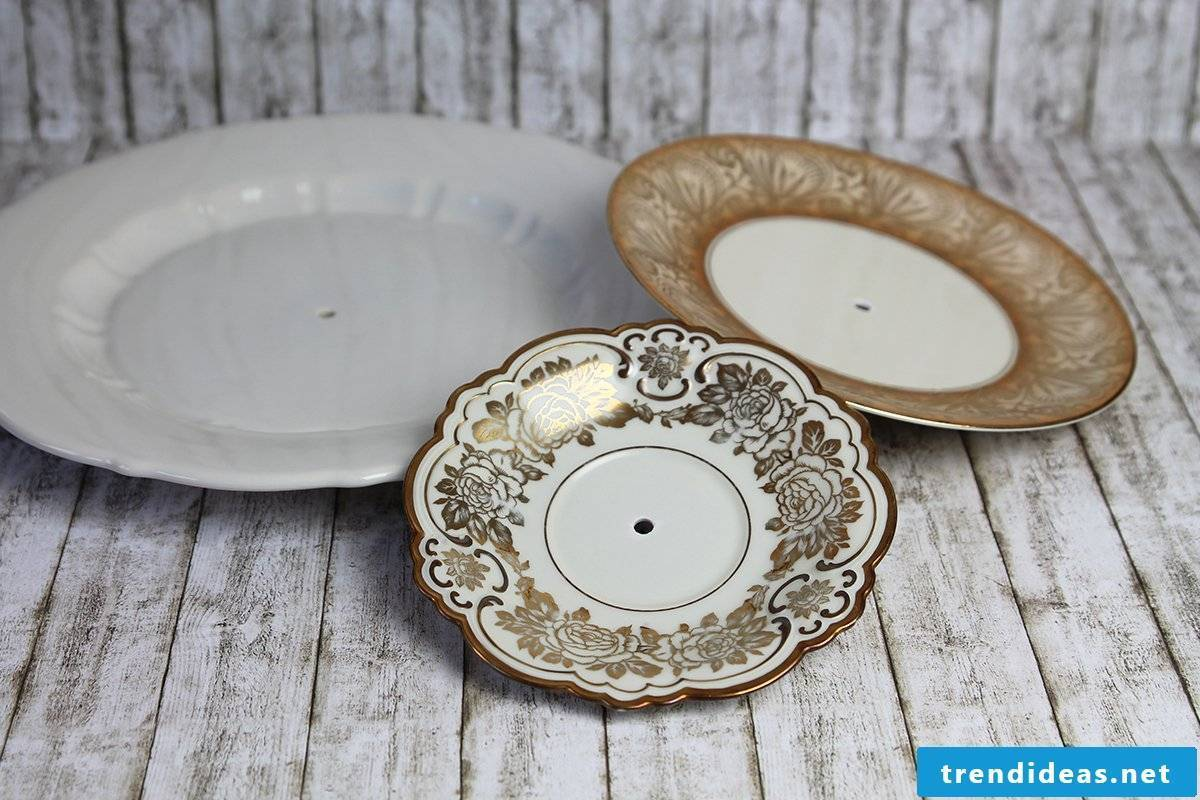 Make your own cake stand out of porcelain - step 3