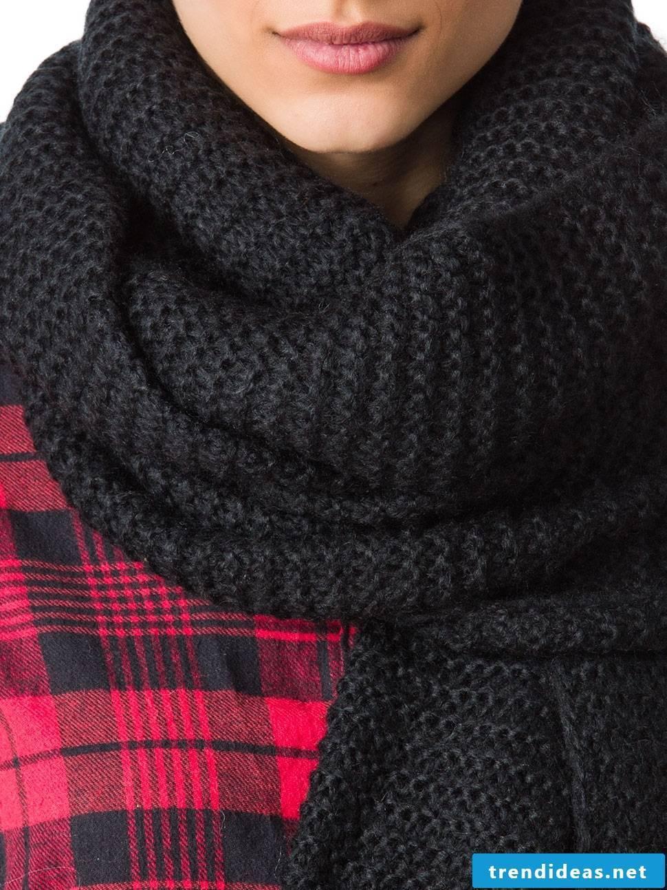 Crochet great ideas for a scarf black
