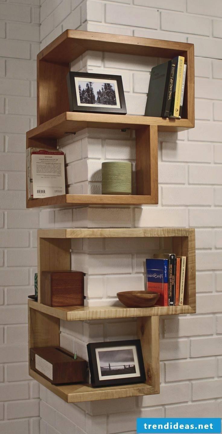 1 room apartment furnishings - shelves in the corner