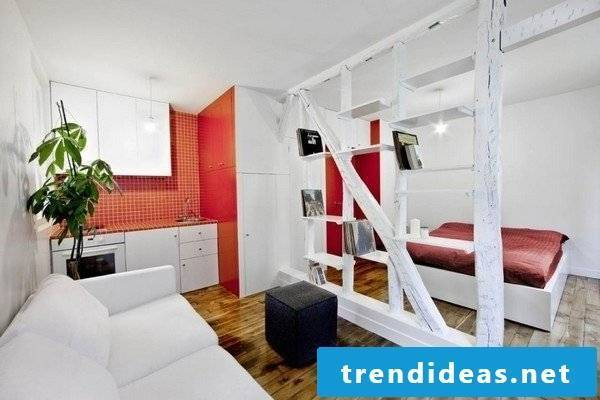 small room furnishing in 1 room apartment