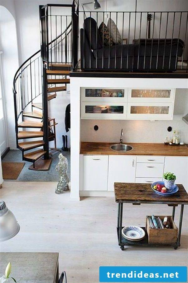 1 bedroom apartment set up by levels
