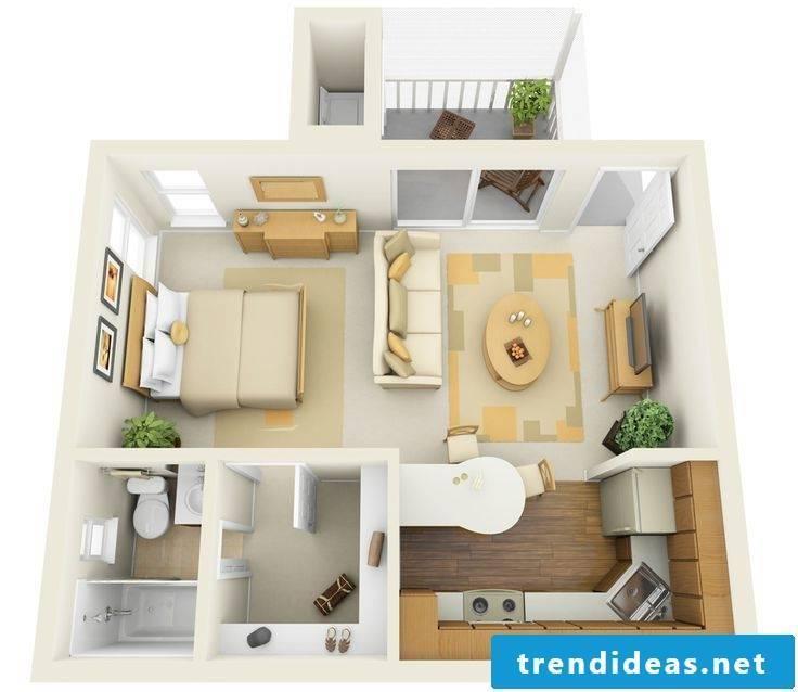 Plan a 1 bedroom apartment