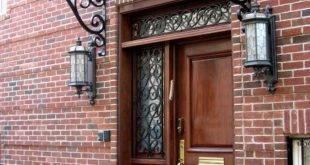 How is a front door canopy built?