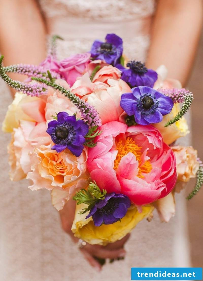 Wedding bouquet of seasonal flowers