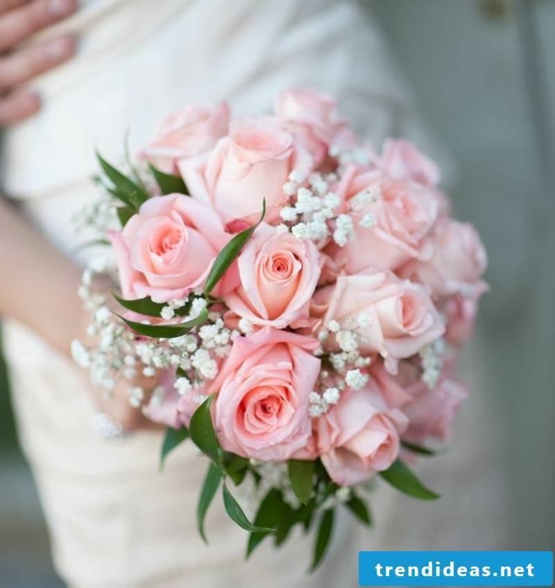 Wedding bouquet of delicate roses