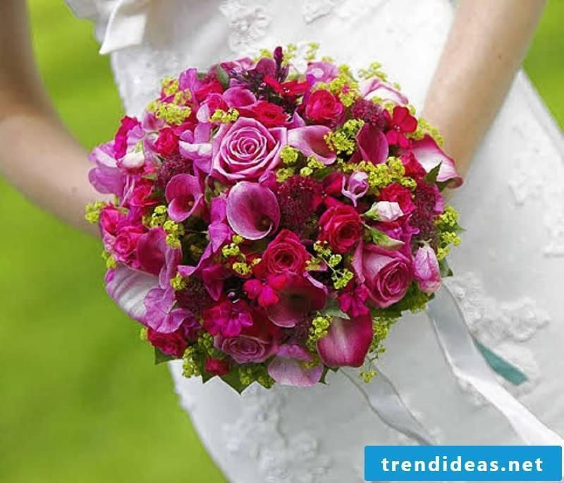 Bridal bouquet design colorful