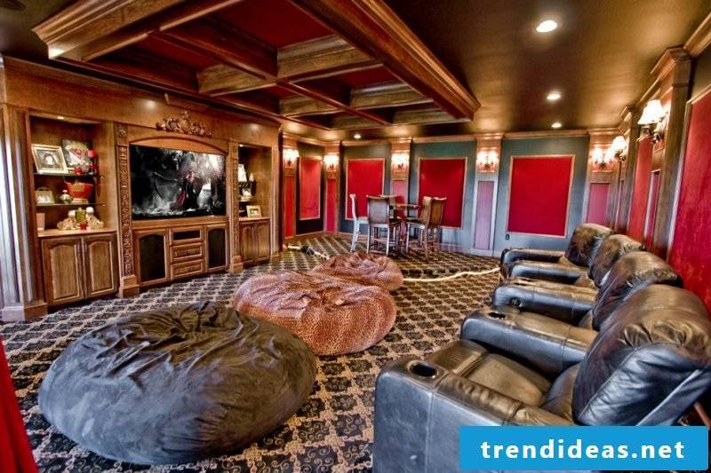Build stressless home theater yourself - rustic design
