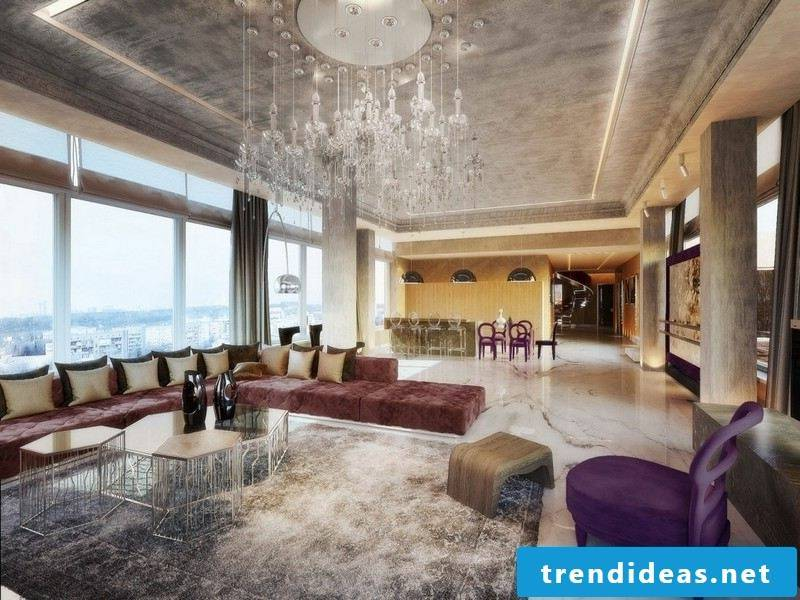 luxurious decor with marble tiles