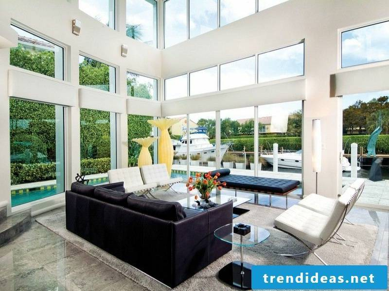 Modern ideas for marble tiles in the living room