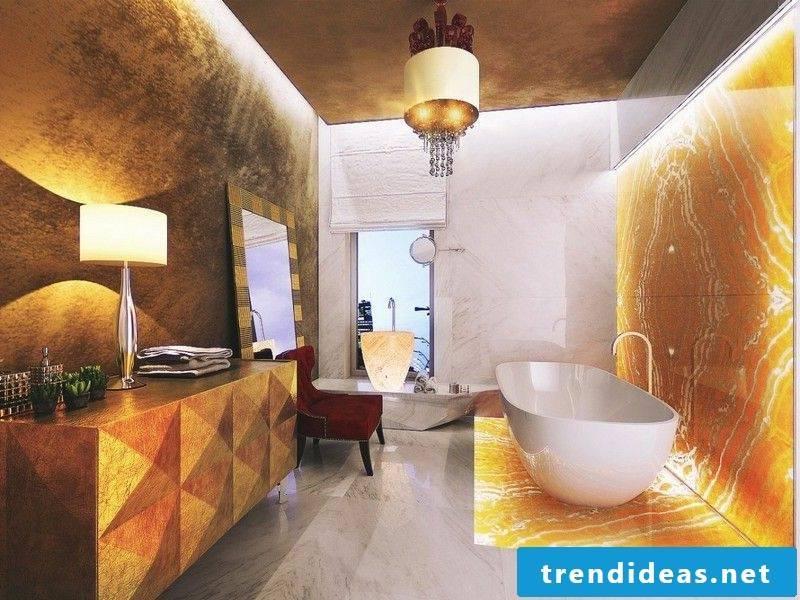ultramodern marble tiles in the bathroom