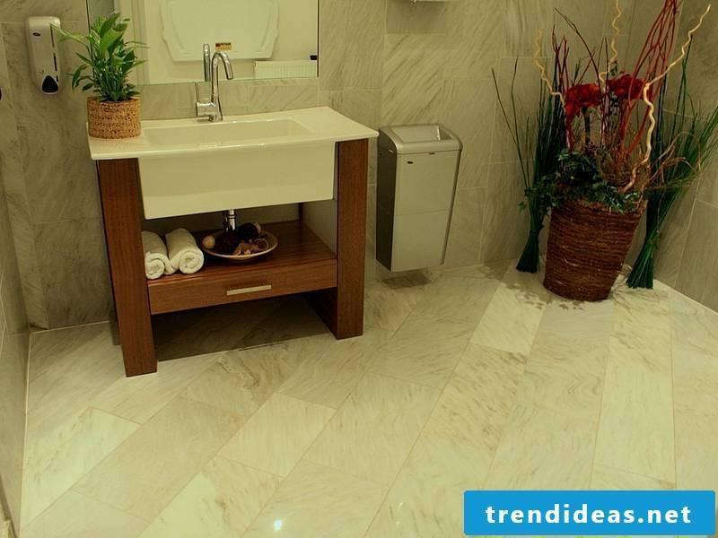 beautiful bathroom floor with marble tiles